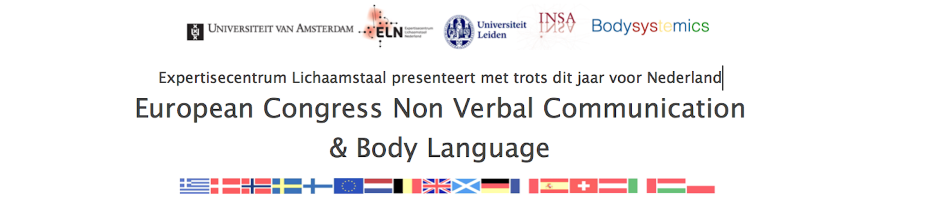 International Congress Non Verbal Communication & Body language
