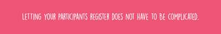 Simple registration form