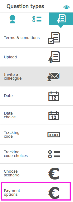 Linking tickets into the registration form
