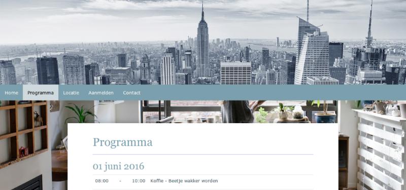 Gebruik jij al onze nieuwe vormgeving om je evenementenwebsite professioneel te maken?