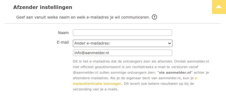 E-mailadres instellen