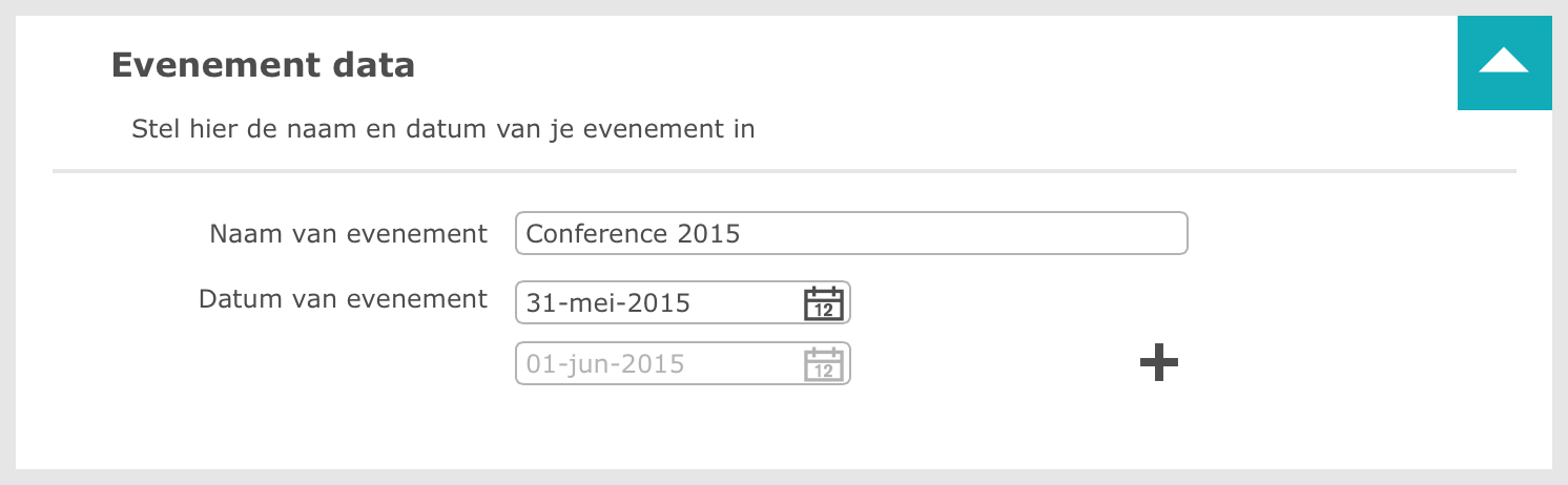 Naam en datum van een evenement aanpassen