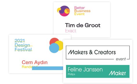 3 badges: welke past bij jouw evenement
