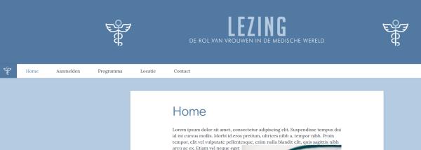 Evenement website voorbeelden