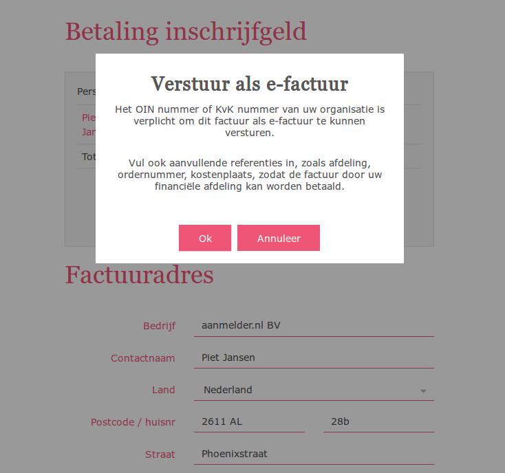 E-facturatie voor deelnemers