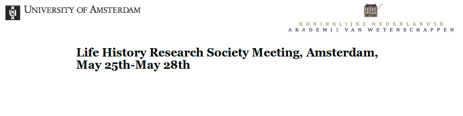 Life History Research Society Meeting