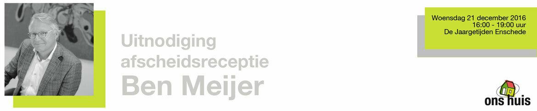 Afscheidsreceptie Ben Meijer