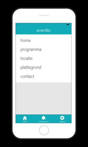 Features van de event app