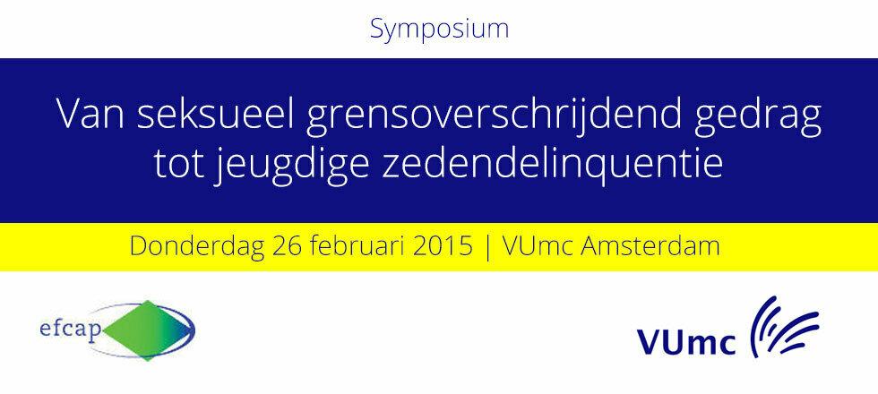 Symposium: Van seksueel grensoverschrijdend gedrag tot jeugdige zedendelinquentie