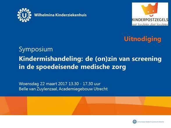 Symposium Kindermishandeling: de (on)zin van screening in de spoedeisende medische zorg