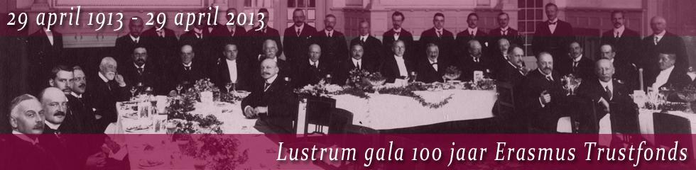 Lustrum Gala 100 jaar Erasmus Trustfonds